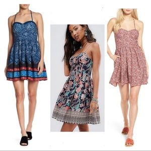 NWT UO Band of Gypsies Fit & Flare Bustier Dress